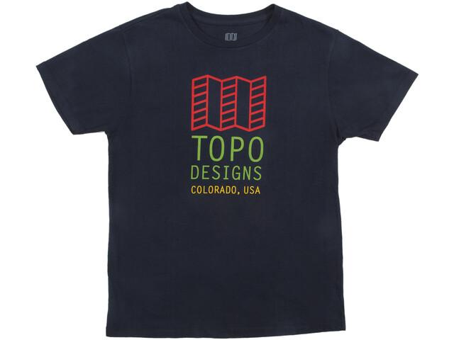 Topo Designs Original Logo Camiseta Hombre, navy
